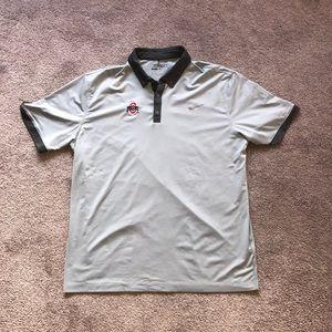 Nike Ohio State Buckeyes Drifit Golf Polo Shirt